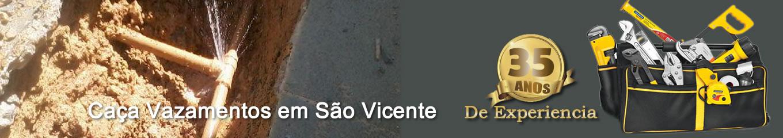 Caça vazamento em São Vicente