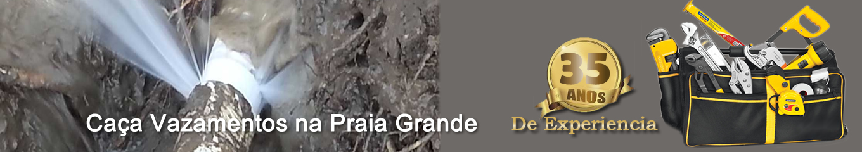 <u>Caça vazamento na Praia Grande</u>